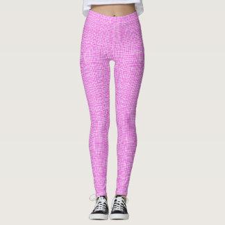 Hot Pink Weave Leggings