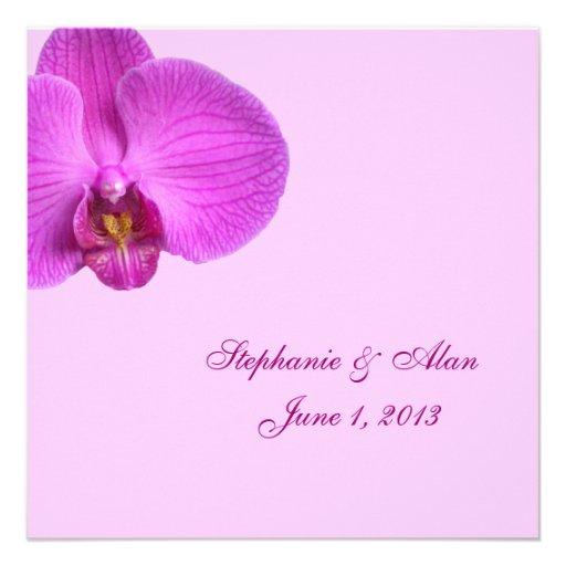 Hot Pink Wedding Invitation With RSVP