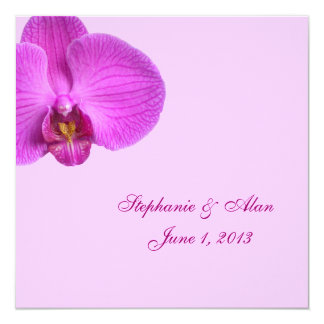 Hot Pink Wedding Invitation With RSVP