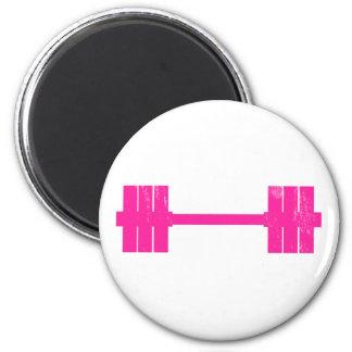 Hot Pink Weight 6 Cm Round Magnet