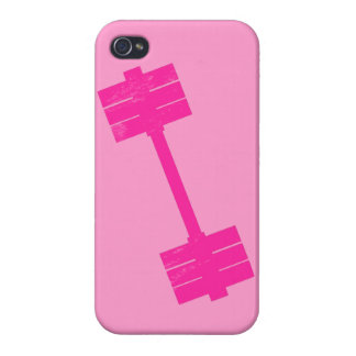 Hot Pink Weight iPhone 4 Covers