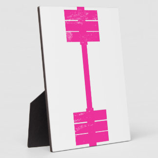 Hot Pink Weight Plaque