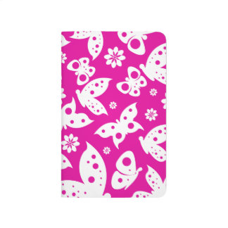 Hot Pink & White Butterfly Journal - Pocket Size