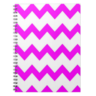 Hot Pink White Chevrons Notebook