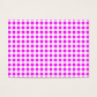 Hot Pink White Gingham Pattern Business Card
