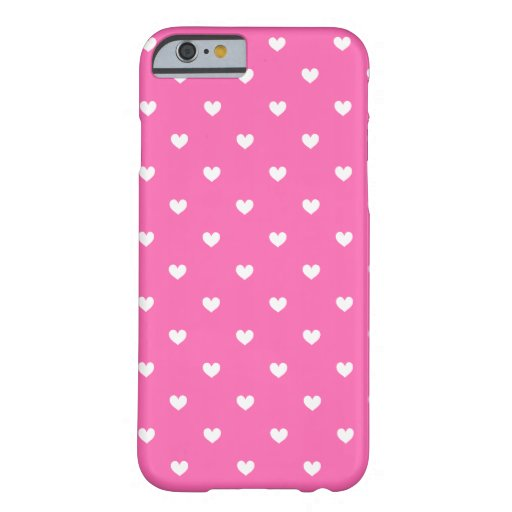 Hot Pink & White Hearts Pattern iPhone 6 case