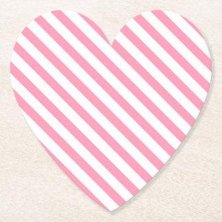 Hot Pink & White Stripes Coaster