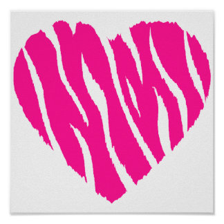 Hot Pink Wild Heart Poster