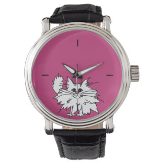 Hot Pink Witty Kitty Vintage Watch