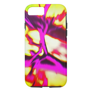 Hot Pink & Yellow Bright Abstract Pattern iPhone 8/7 Case