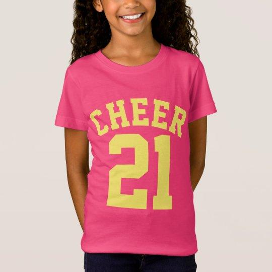 Hot Pink & Yellow Kids | Sports Jersey Design T-Shirt