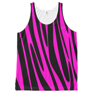 Hot Pink Zebra All-Over Print Tank Top