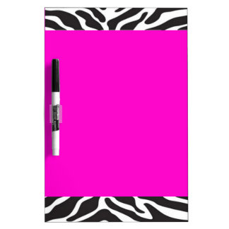 Hot Pink Zebra Dry Erase Board
