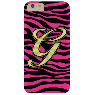 HOT PINK ZEBRA GOLD G BARELY THERE iPhone 6 PLUS CASE