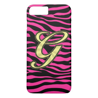 HOT PINK ZEBRA GOLD G iPhone 7 PLUS CASE