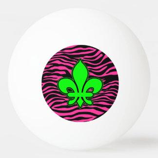 HOT PINK ZEBRA GREEN FLEUR DE LIS Ping-Pong BALL