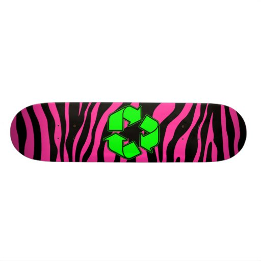 HOT PINK ZEBRA GREEN RECYCLE SKATE BOARDS