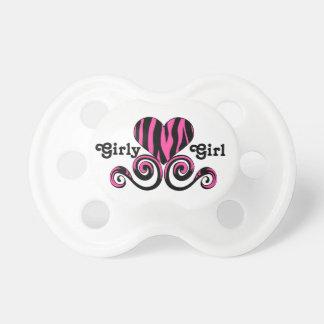 Hot pink zebra heart girly girl dummy
