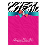 Hot Pink Zebra Print Earring Display Cards Pack Of Chubby Business Cards