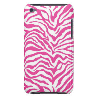 Hot Pink Zebra Print Wild Animal Stripes Novelty iPod Touch Covers