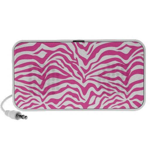 Hot Pink Zebra Print Wild Animal Stripes Novelty iPod Speaker