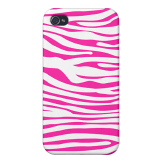 Hot Pink Zebra stripe pattern animal print iPhone 4 Cover