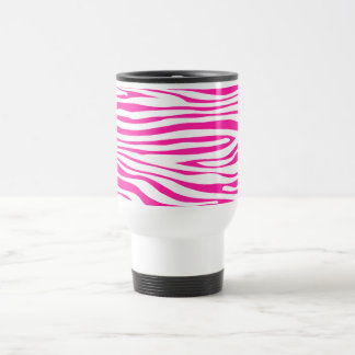 Hot Pink Zebra stripe pattern animal print Travel Mug