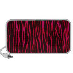 Hot Pink Zebra Stripe Print Travel Speaker
