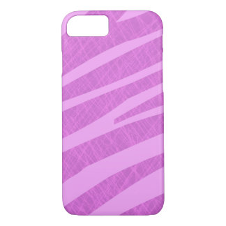 Hot Pink Zebra Stripes and Scratches iPhone 8/7 Case
