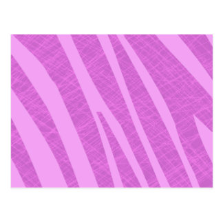 Hot Pink Zebra Stripes and Scratches Post Card