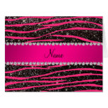 Hot pink zebra stripes black glitter pink stripe