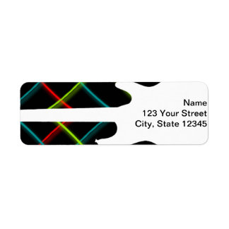 Hot Pop Color Guitar Business Return Address Label