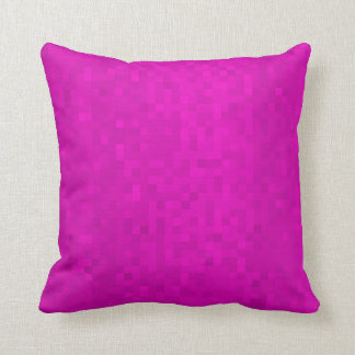 Hot Purple Mosaic Tiles Pattern, Throw Cushion. Cushion