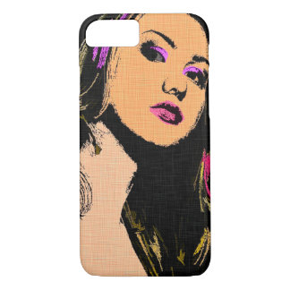 Hot Racer Girl Vintage Pop Art Style iPhone 7 Case
