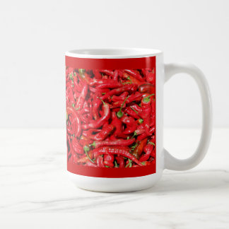 Hot Red Chili Peppers Outdoors in the Summer Sun Coffee Mugs