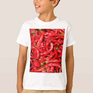 Hot Red Chili Peppers Outdoors in the Summer Sun T-Shirt
