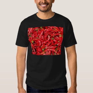 Hot Red Chili Peppers Outdoors in the Summer Sun Tee Shirt