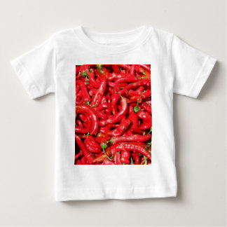 Hot Red Chili Peppers Outdoors in the Summer Sun Tshirts