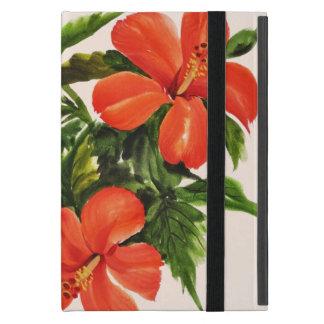 Hot Red Hibiscus Case For iPad Mini