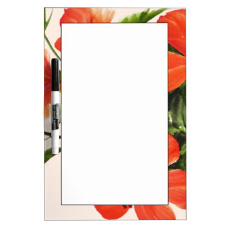 Hot Red Hibiscus Dry Erase Board