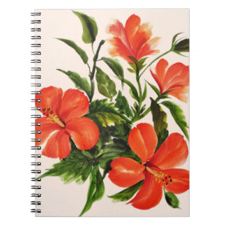 Hot Red Hibiscus Note Books