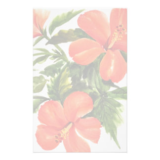 Hot Red Hibiscus Stationery