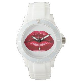 Hot Red Lips Beauty Watch