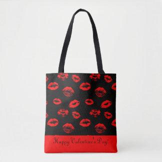 Hot red lips / kisses tote bag