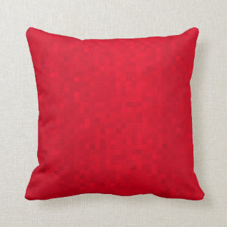 Hot Red Mosaic Tiles Pattern, Throw Cushion. Cushion