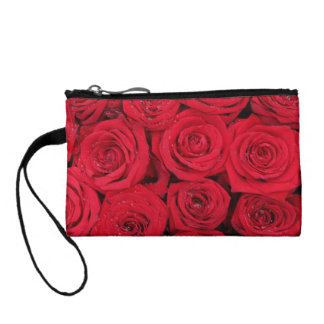 Hot red roses by Therosegarden Coin Purse