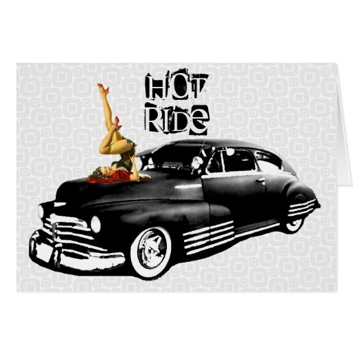 Hot Ride Birthday Card