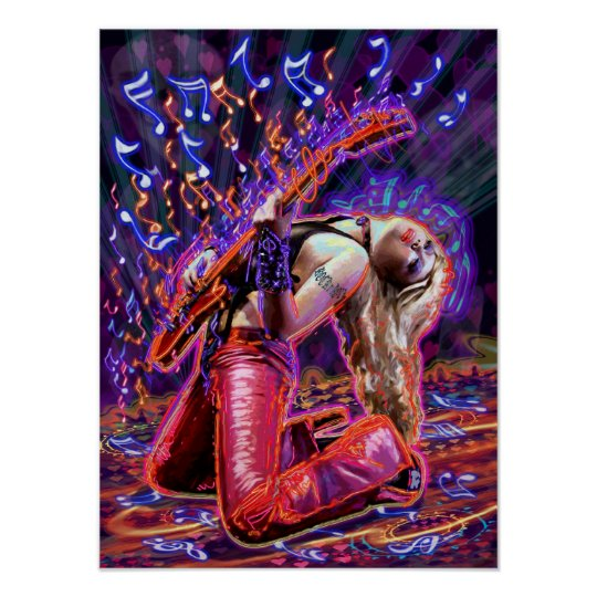 HOT ROCK CHICK POSTER