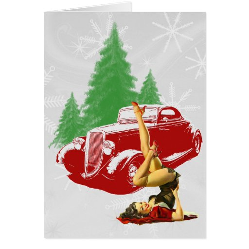 Hot Rod and Pin Up Christmas Cards