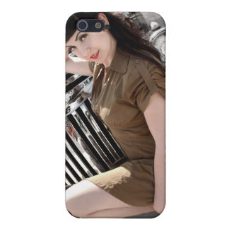 Hot Rod Army Pin Up Girl Rat Rod iPhone 5 Case